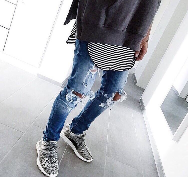 ripped jeans stripes sneakers style pinterest sneakers fashion and death. Black Bedroom Furniture Sets. Home Design Ideas