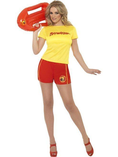 Ladies Baywatch Beach Lifeguard 80s Womens Fancy Dress Costume 8-14 by Smiffys