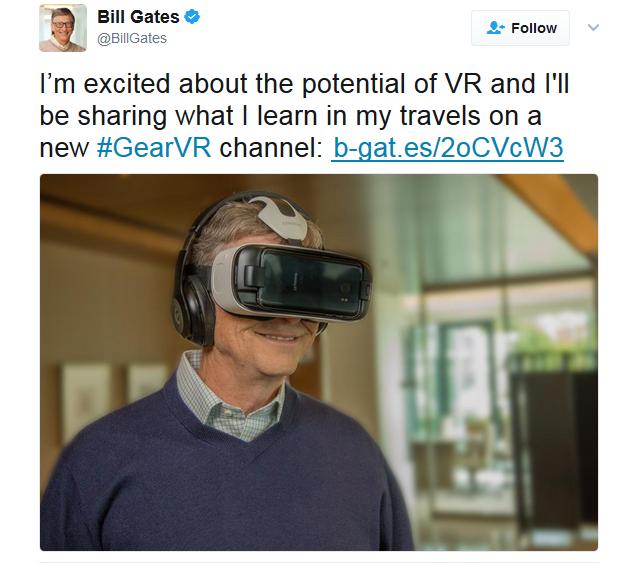 Bill Gates Annuncia Il Suo Progetto Con Gear Vr Bill Gates Billie Video