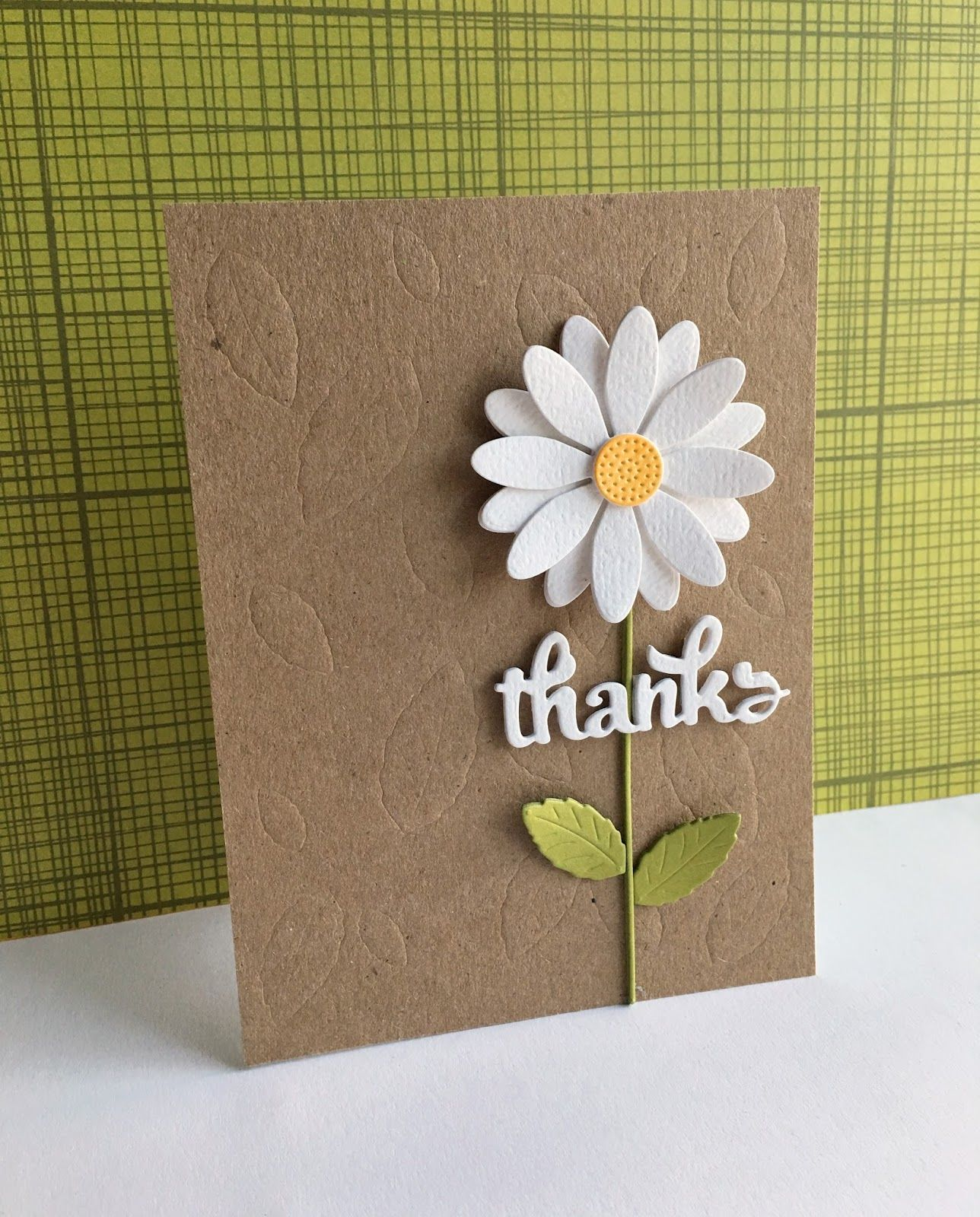 A Daisy Thanks Handmade Thank You Cards Daisy Cards Flower Cards