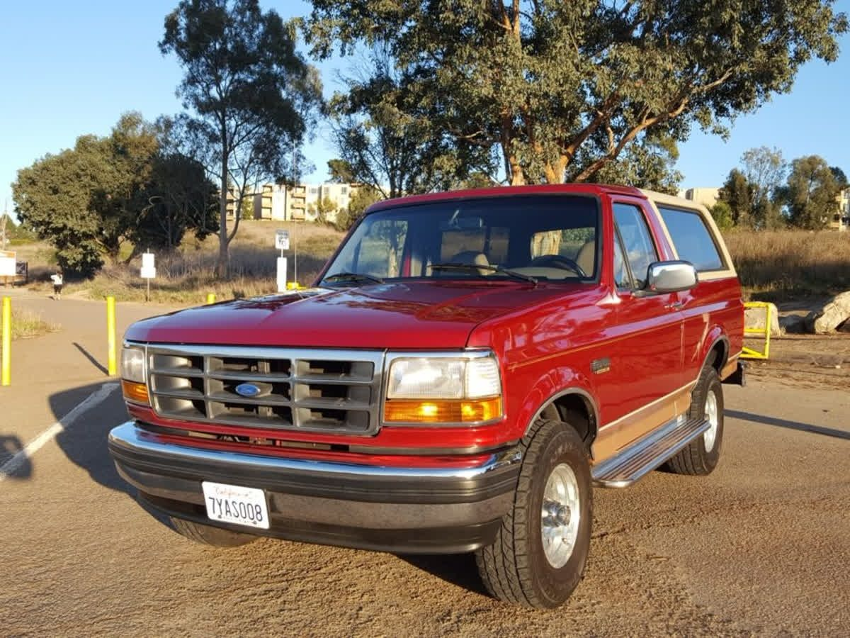 Here's a 1994 Ford Bronco Eddie Bauer Edition for