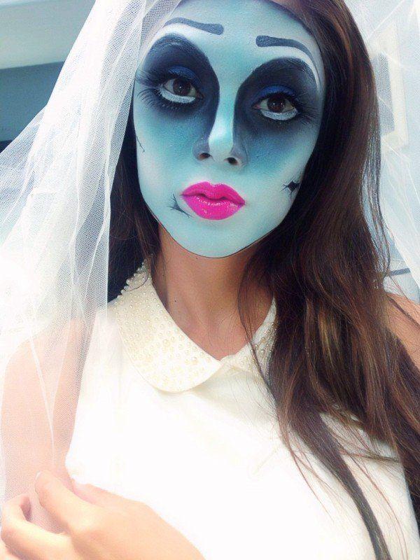 maquillaje halloween de novia cadver