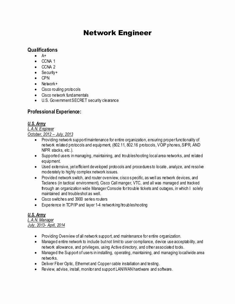 25 network engineer resume sample in 2020 network