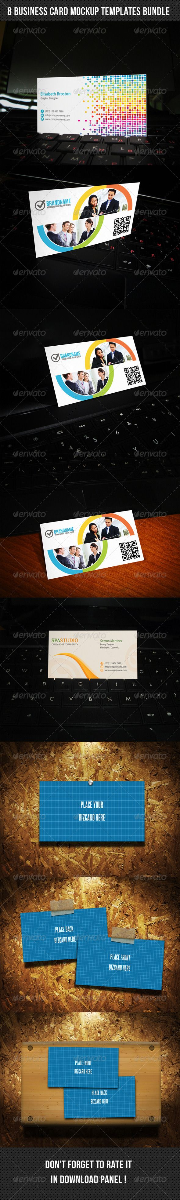 8 business card mockup templates bundle business card mockup 8 business card mockup templates bundle photoshop psd modern show available here reheart Gallery