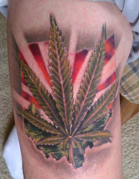 4 20 Tattoos Inked Magazine Tats Pinterest Marijuana Tattoo