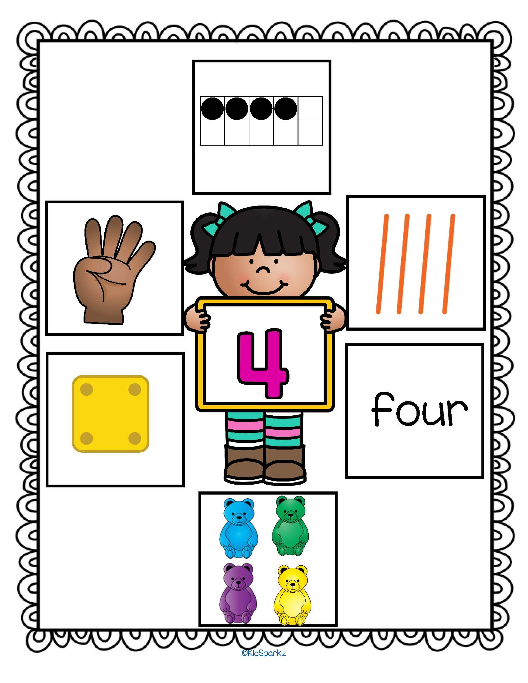 Number Sense Anchor Posters 1 10 Free