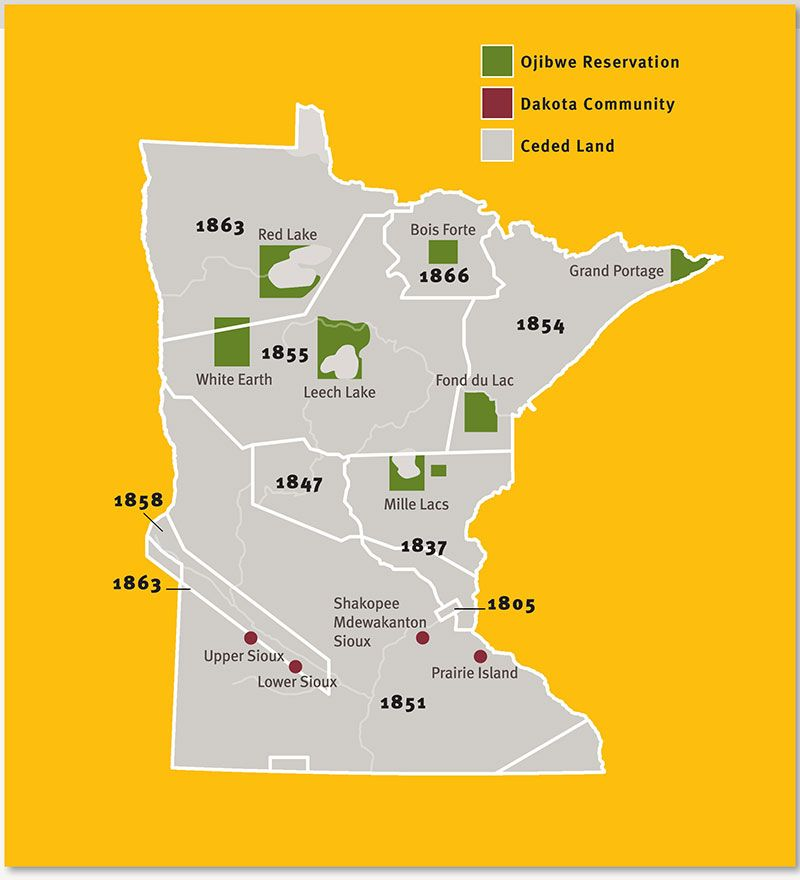 Minnesota Reservations Map Native American History Pinterest - Map of us in 1805