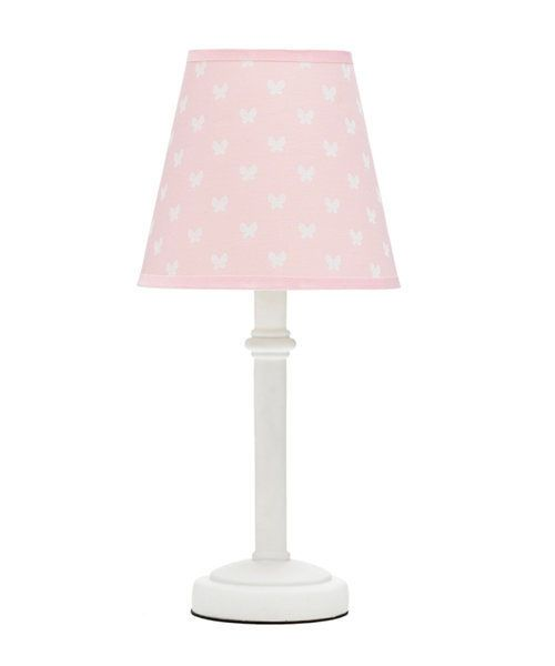 pink bedroom lamps beige print childrens led table lamp 12843