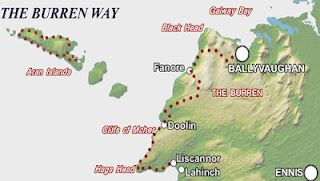 Map Of The Burren Ireland.Pin On All Things Ireland