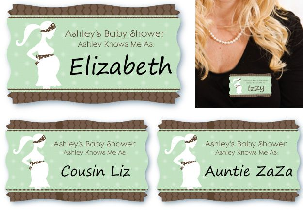 Baby Shower Games · Name Tag Labels Introduce Everyone How The Guest Of  Honor Knows Everyone