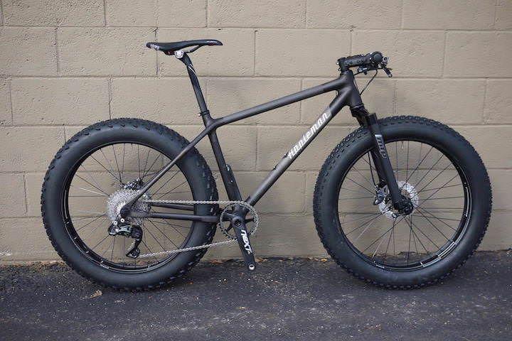 Appleman custom carbon fiber fat bike, worlds lightest fatbike frame ...