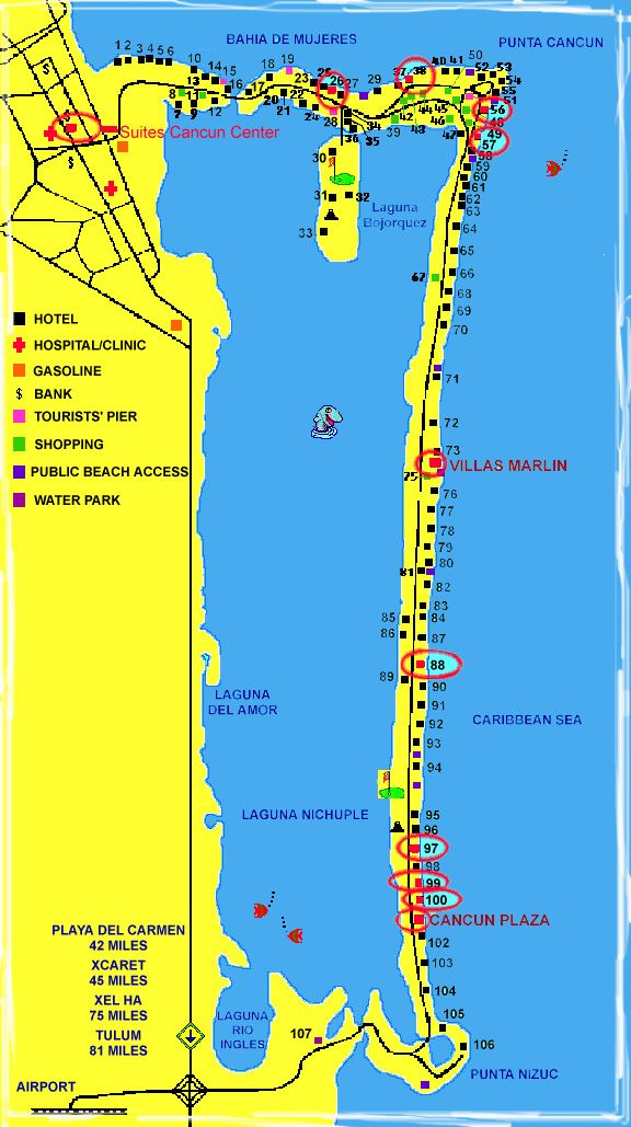 Map Of Cancun Mexico Cancun Mexico Map Cancun Area Maps