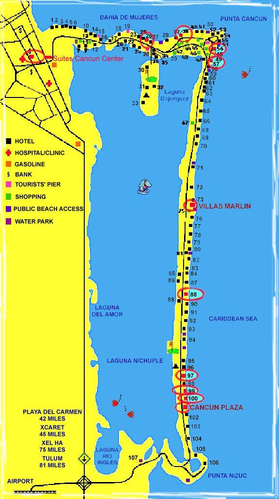 Map of Cancun Mexico | cancun mexico map. CANCUN_AREA_MAPS