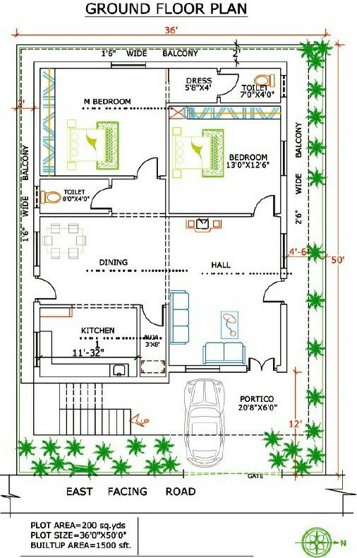 Pin By On House Plans West Facing House 2bhk House Plan New House Plans