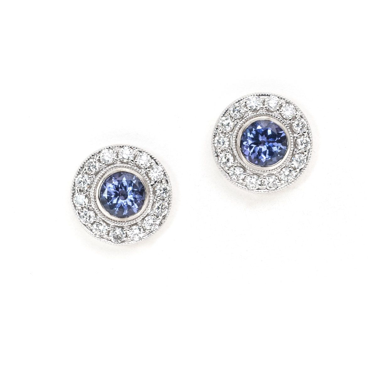Trends For > Purple Diamond Earrings