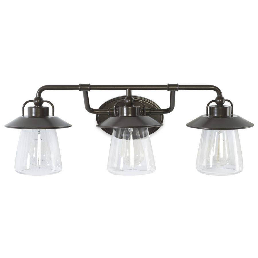 Allen Roth Bristow 3 Light 8 57 In Specialty Bronze Cone Vanity