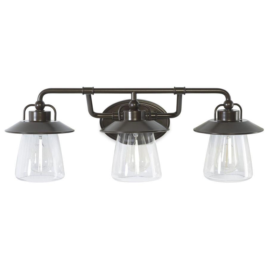allen + roth Bristow 3-Light 8.57-in Specialty Bronze Cone Vanity ...