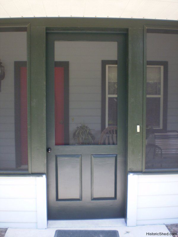 Wood Screen Door With Solid Lower Panels, Good For Pets