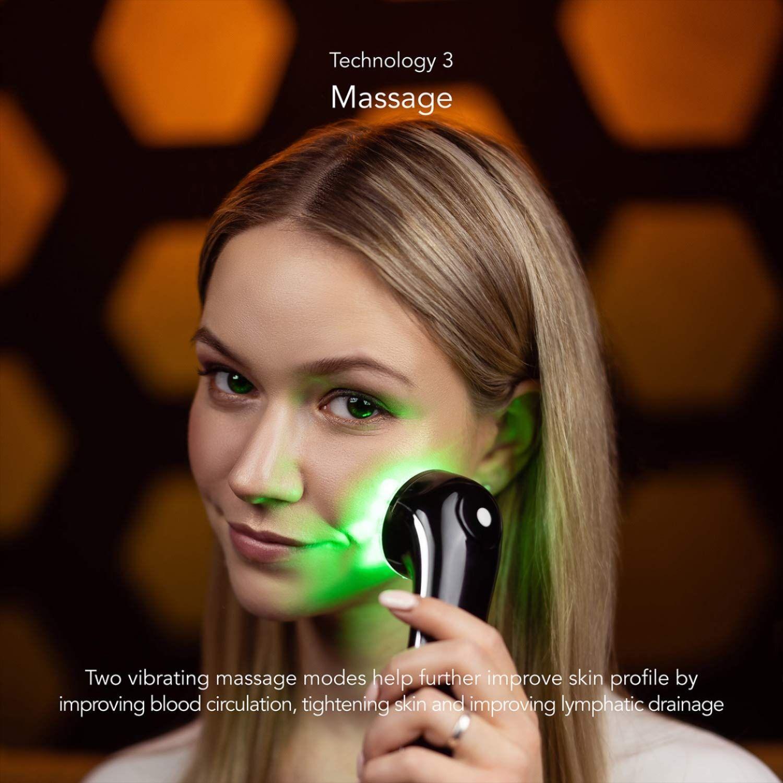 Ion Therapy Led Light Machine Wave Stimulation Massage Anti Aging Lift Firm Tighten Skin Skin Therapy Skin Firming Skin Tightening