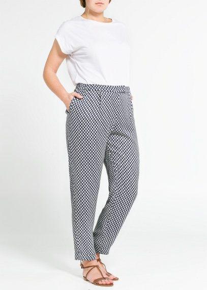 Fließende Hose mit Muster