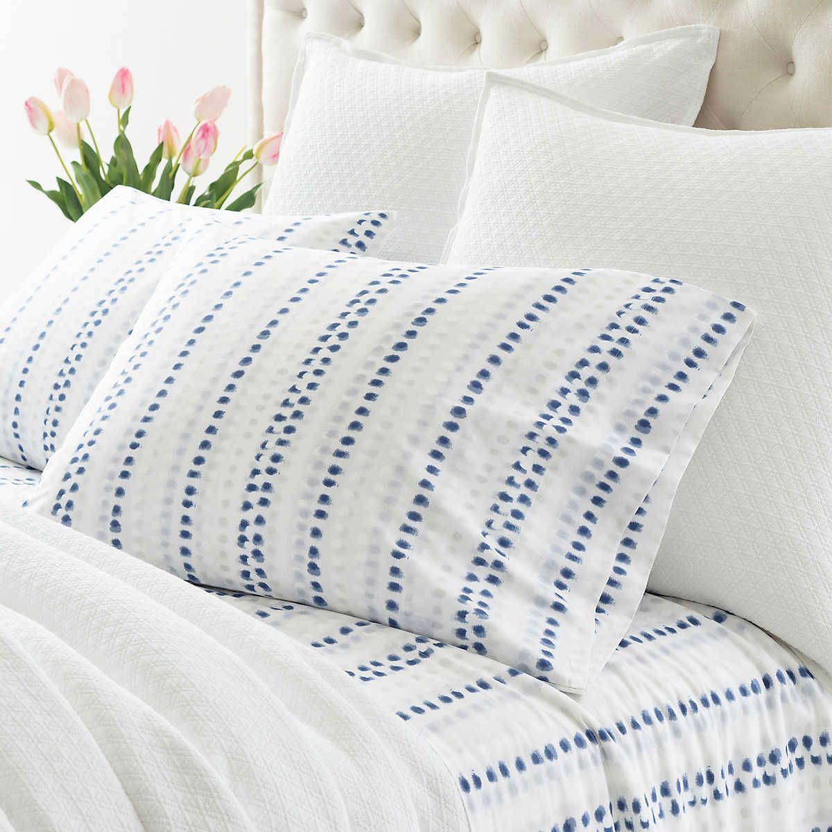 Ink Dots Pillowcases Pine Cone Hill Blue Pattern Sheets