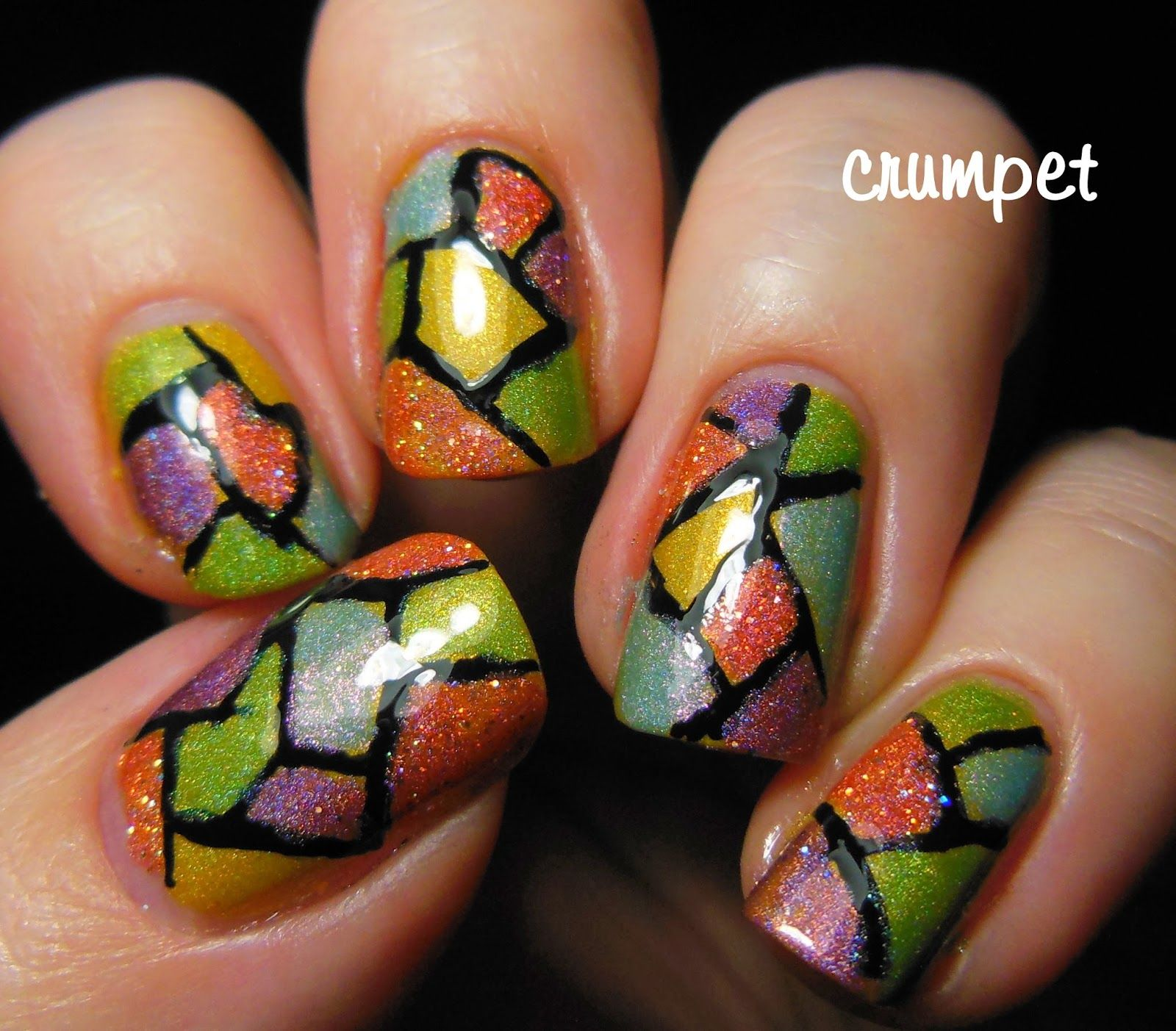 Literary Lacquers - A Wrinkle In Time - Stained Glass Nail Art ...