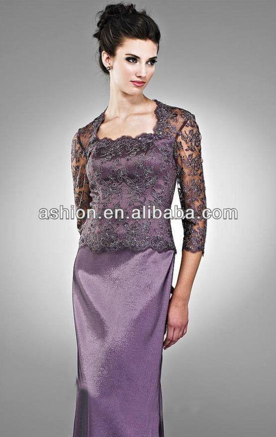 Me 146 Deep Purple Mother Of The Bride Dresses Three Quarter Length Sleeve Dress