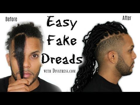 Divatress Com Easy Fake Dreads Youtube Fake Dreads Faux Locs Hairstyles Dreadlock Hairstyles For Men