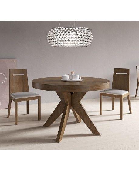 Mesa roma mesa de comedor extensible mesa de madera - Mesa redonda comedor ...
