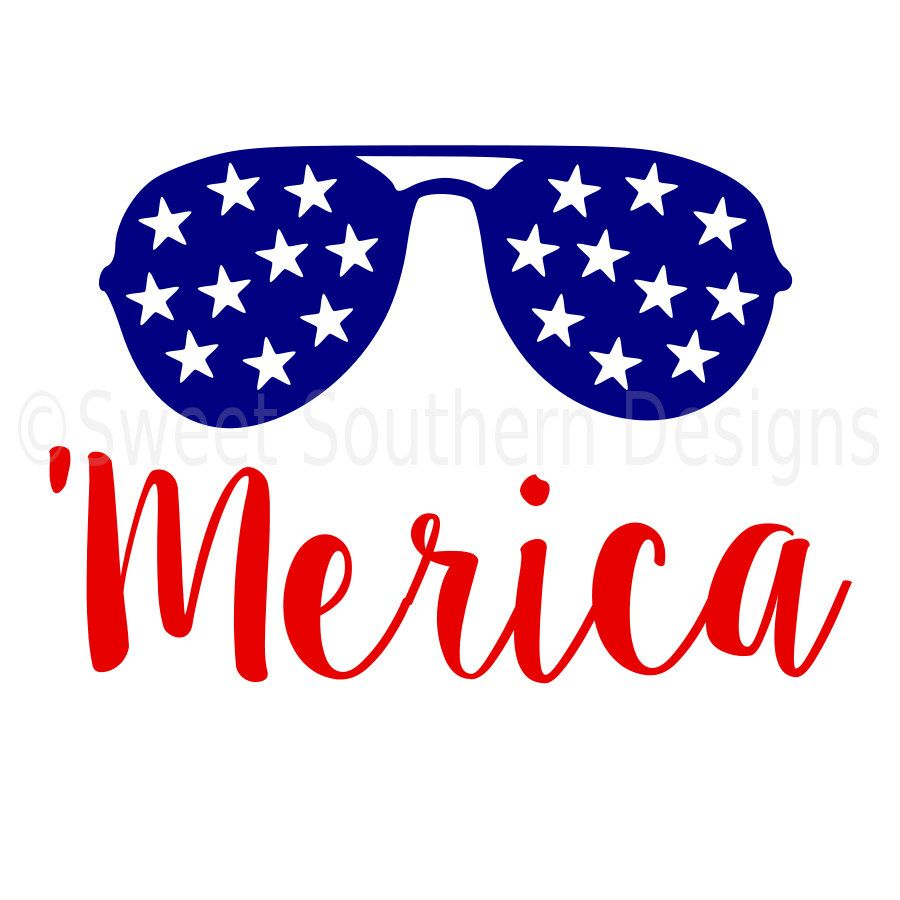 merida with sunglasses fourth of july svg instant download design