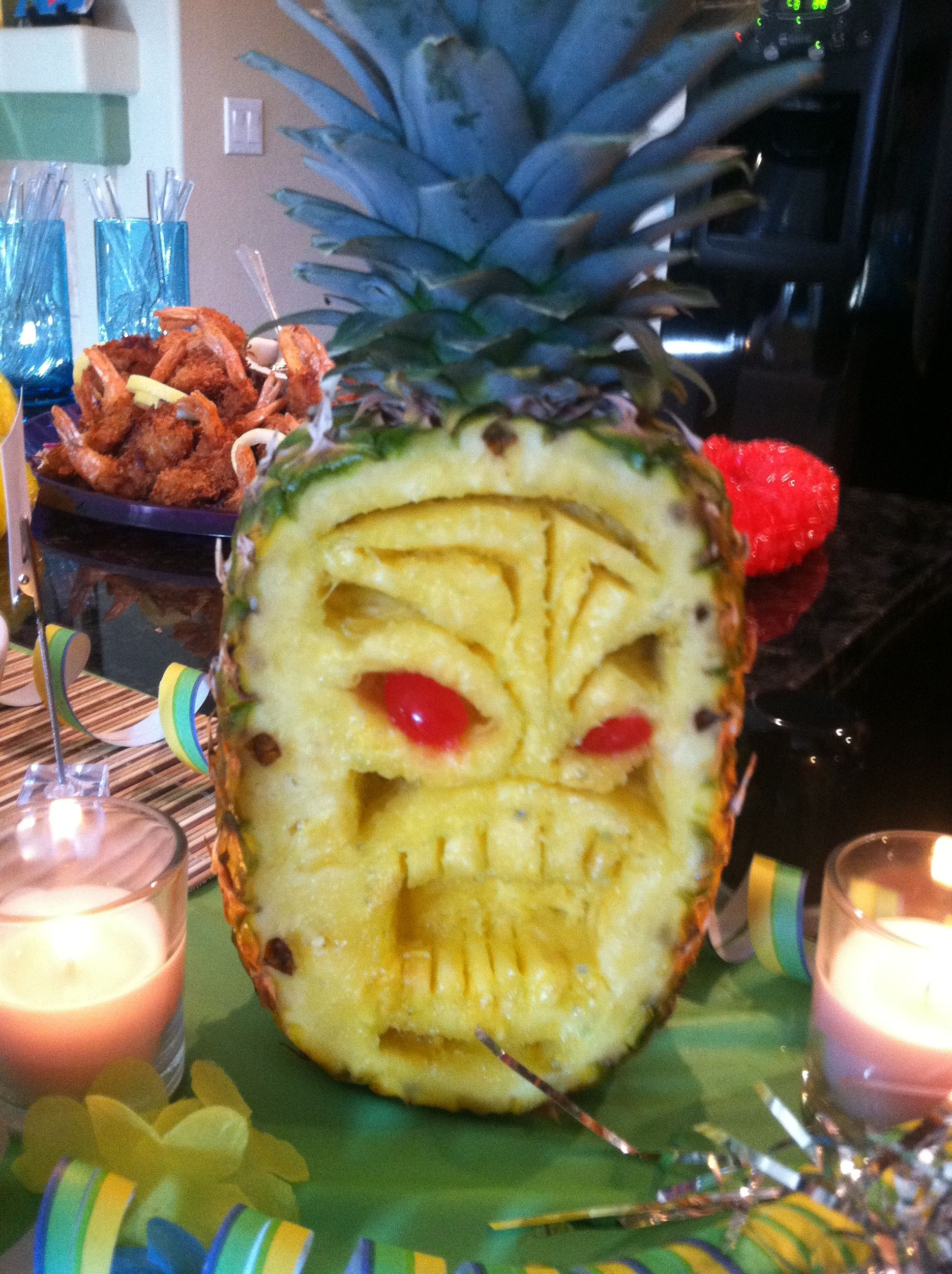 Carved pineapple tikkis i want to carve fruit
