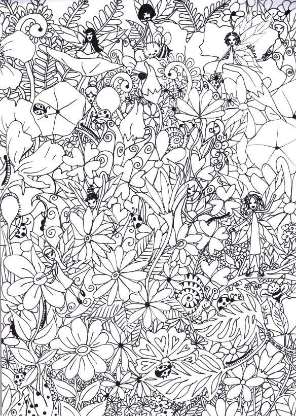 A fairy garden coloring page 15 fabulous free printable colouring pages for big kids and adults