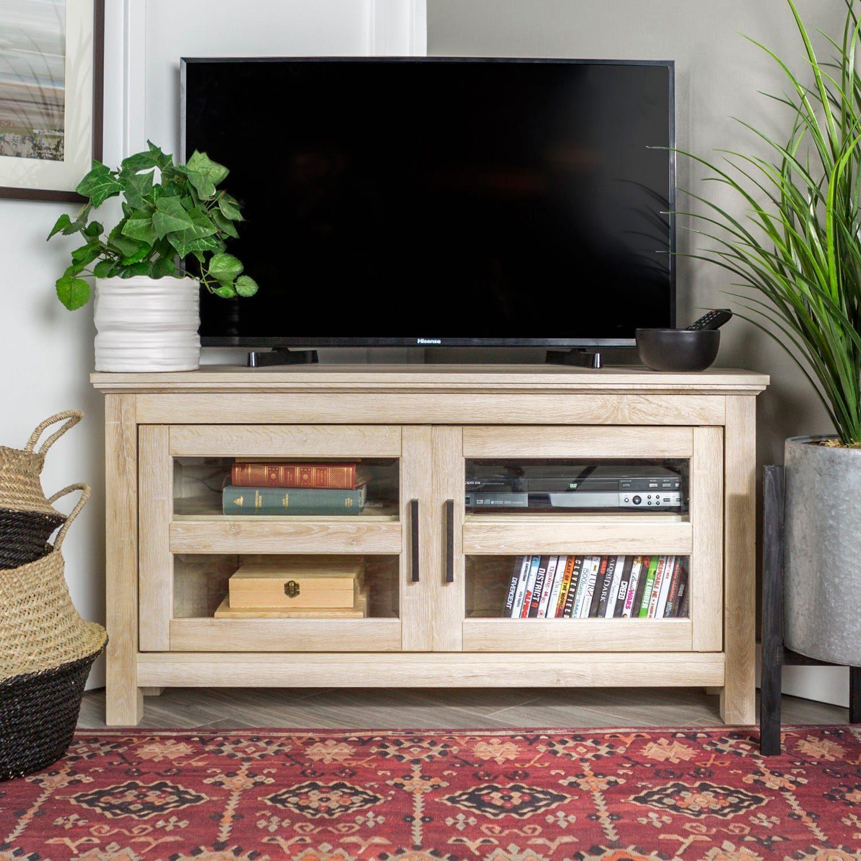 44 barnwood corner tv stand in 2020 wood corner tv