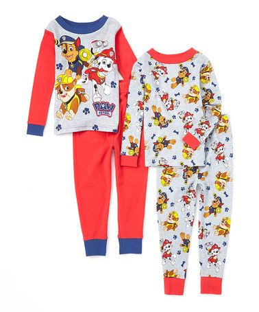 91d54e5b6 Loving this PAW Patrol Four-Piece Pajama Set - Toddler on  zulily ...