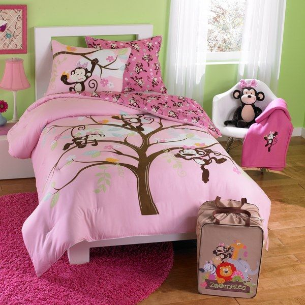 M is for Monkey Zoomates Bedding Comforter Set - Bed Bath ...