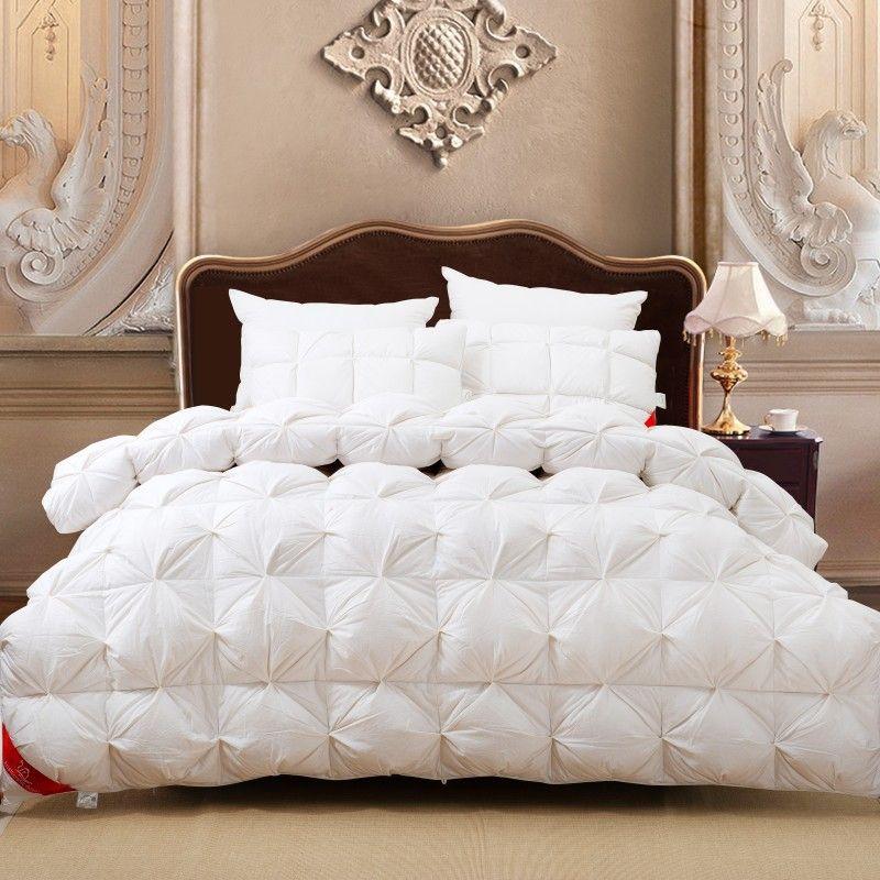white fluffy duvet cover space bed