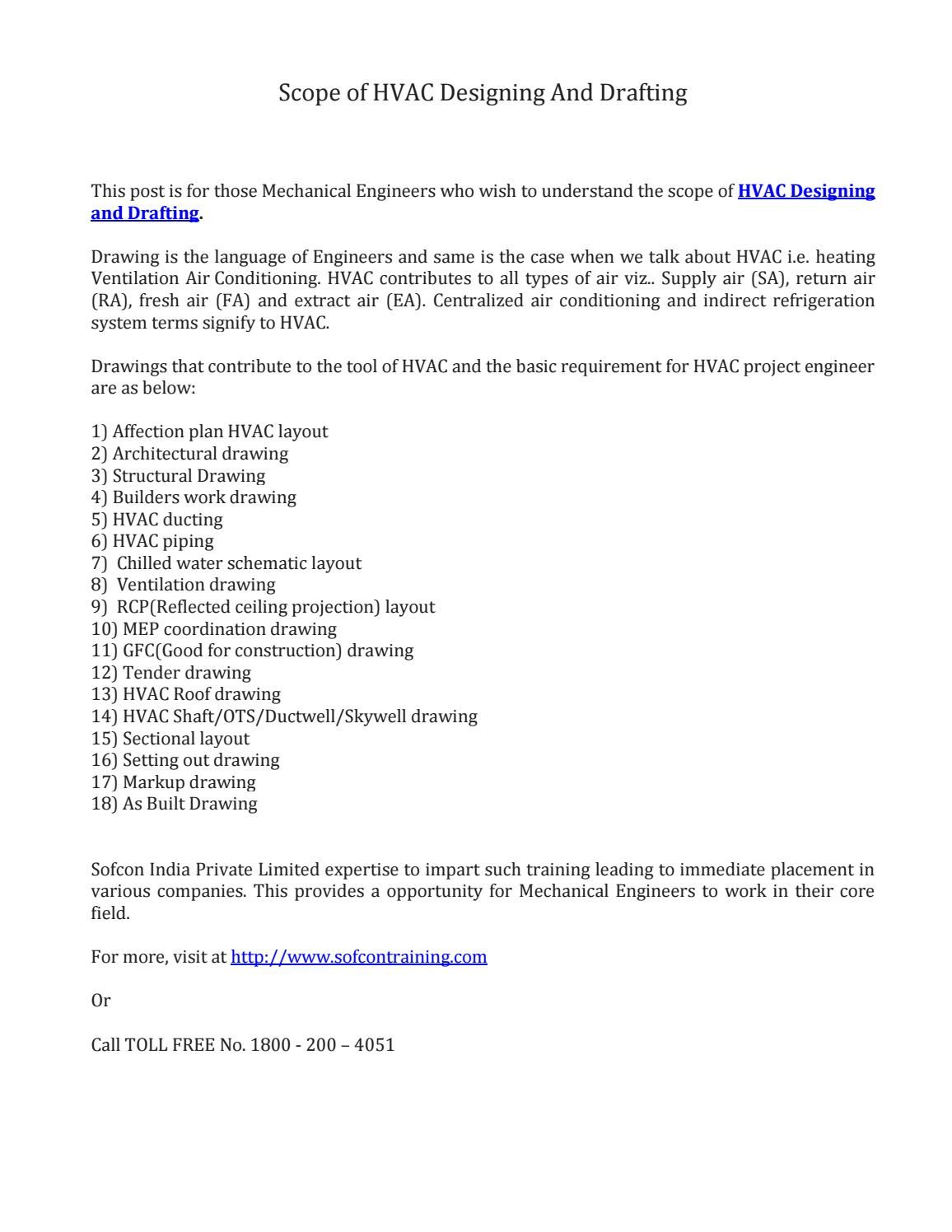 medium resolution of scope of hvac designing and drafting design