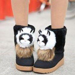 Shoespie Cute Animal Appliqued Snow Boots