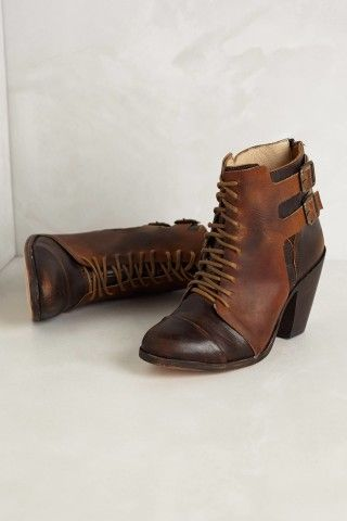 Trotter Buckle Booties | Anthropologie