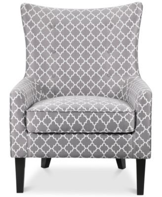 JLA Brie Printed Fabric Accent Chair, Direct Ship