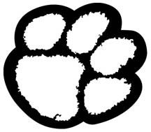 Tiger Paw Print Colouring Pages Phcdi Clemson Paw Stencil Paw