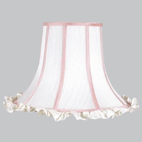 Ruffle Lamp Shades, Pink And White Chandelier Lamp Shades