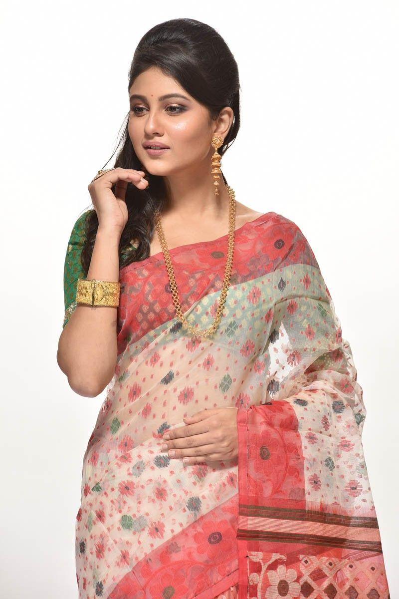 a59cbc3822 Muslin Dhakai Saree (adi29296) #saree #shopping # | Dhakai Jamdani ...