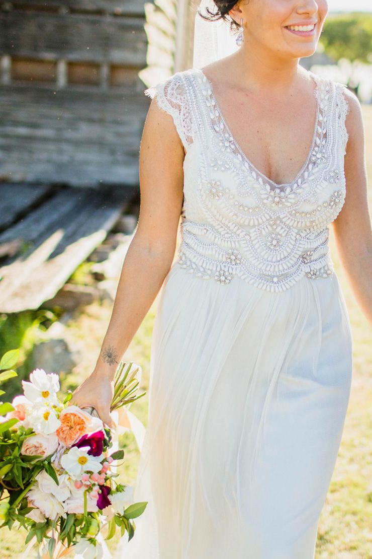 Liv u robus elegant boho wedding by the beach the dress