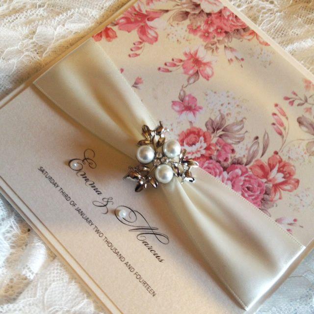Regency Rose Wedding Invitation Beautiful vintage wedding style by