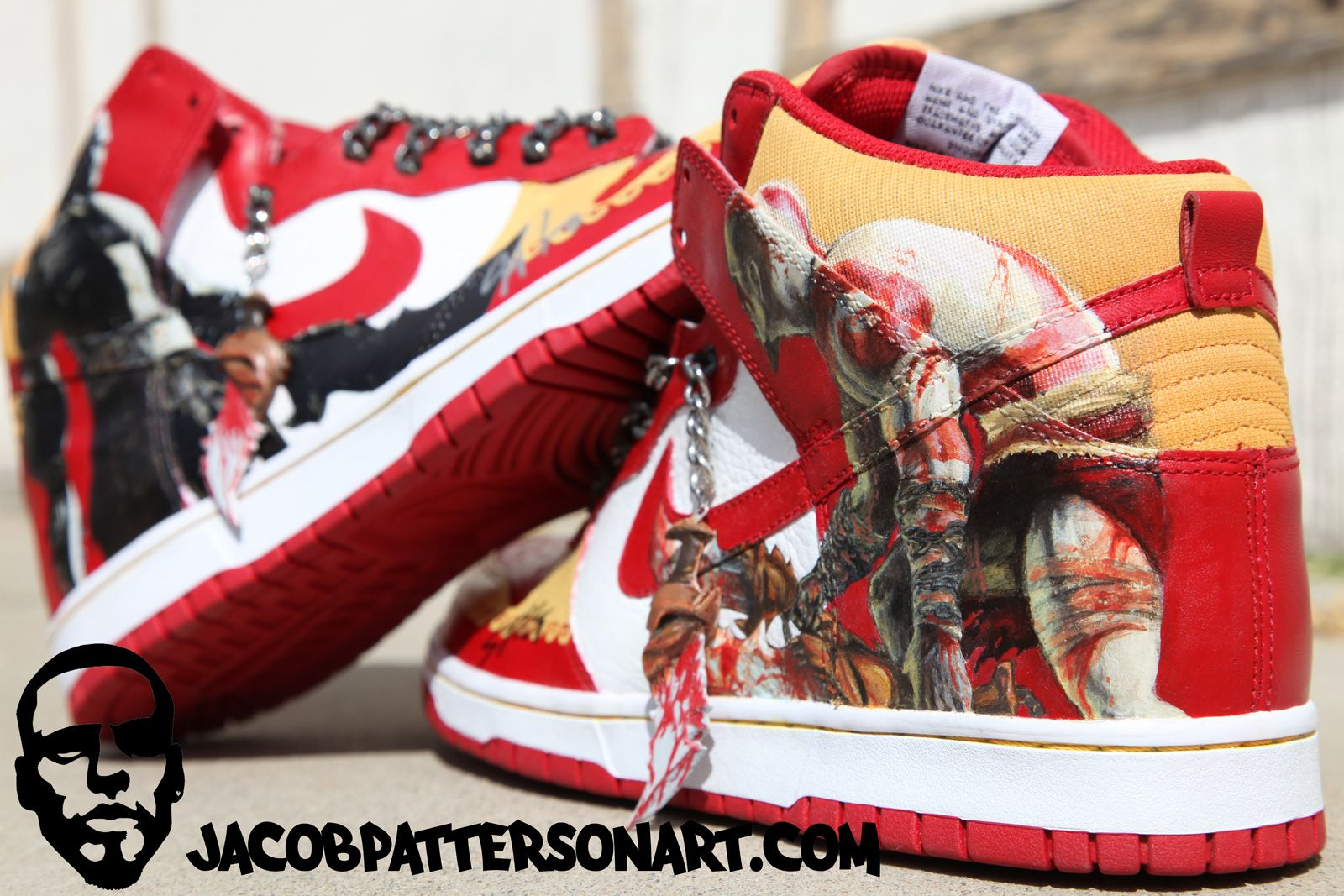 Nike Dunks x God of War | Sneakers, Professional sneakers