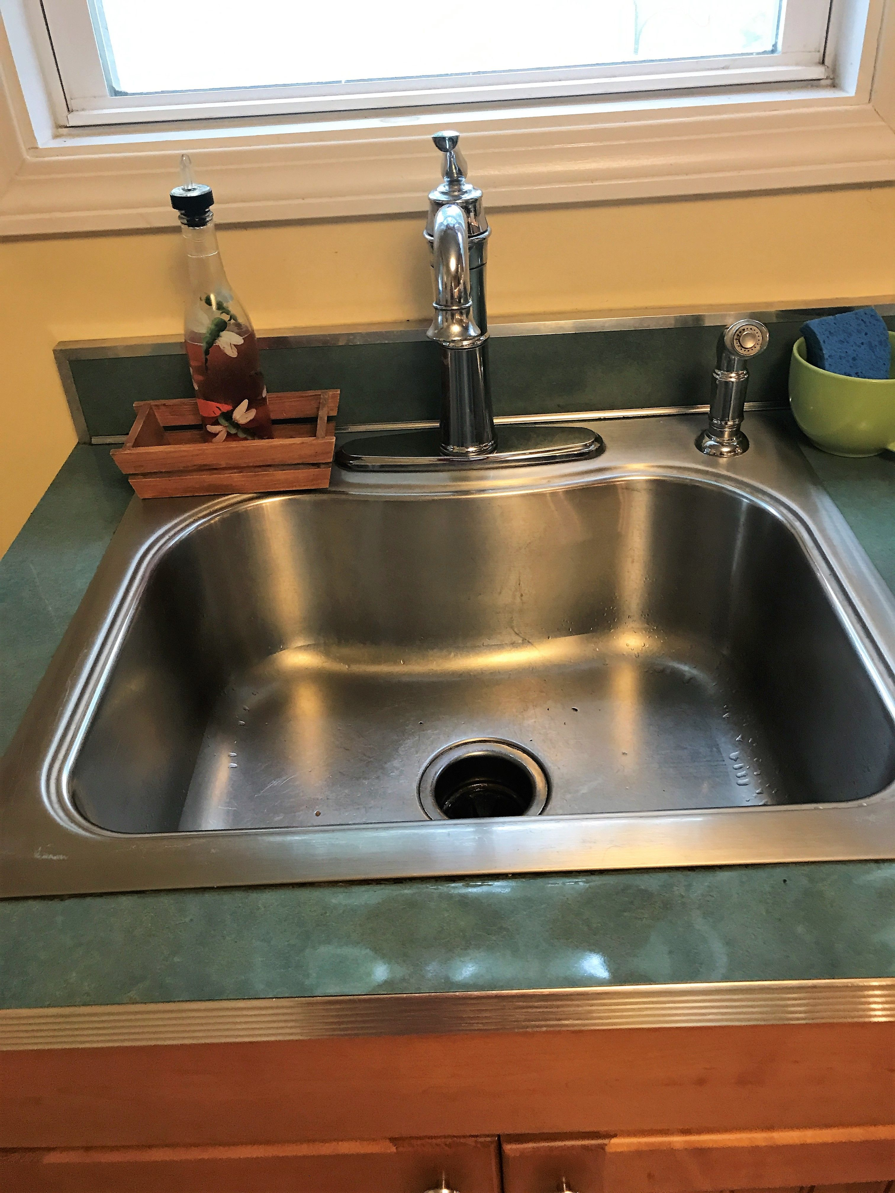 Deep Stainless Steel Sink With Gooseneck Faucet Liked The Size