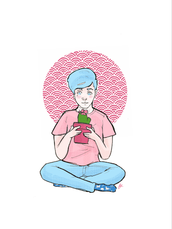 phil with plants is aesthetic tbh