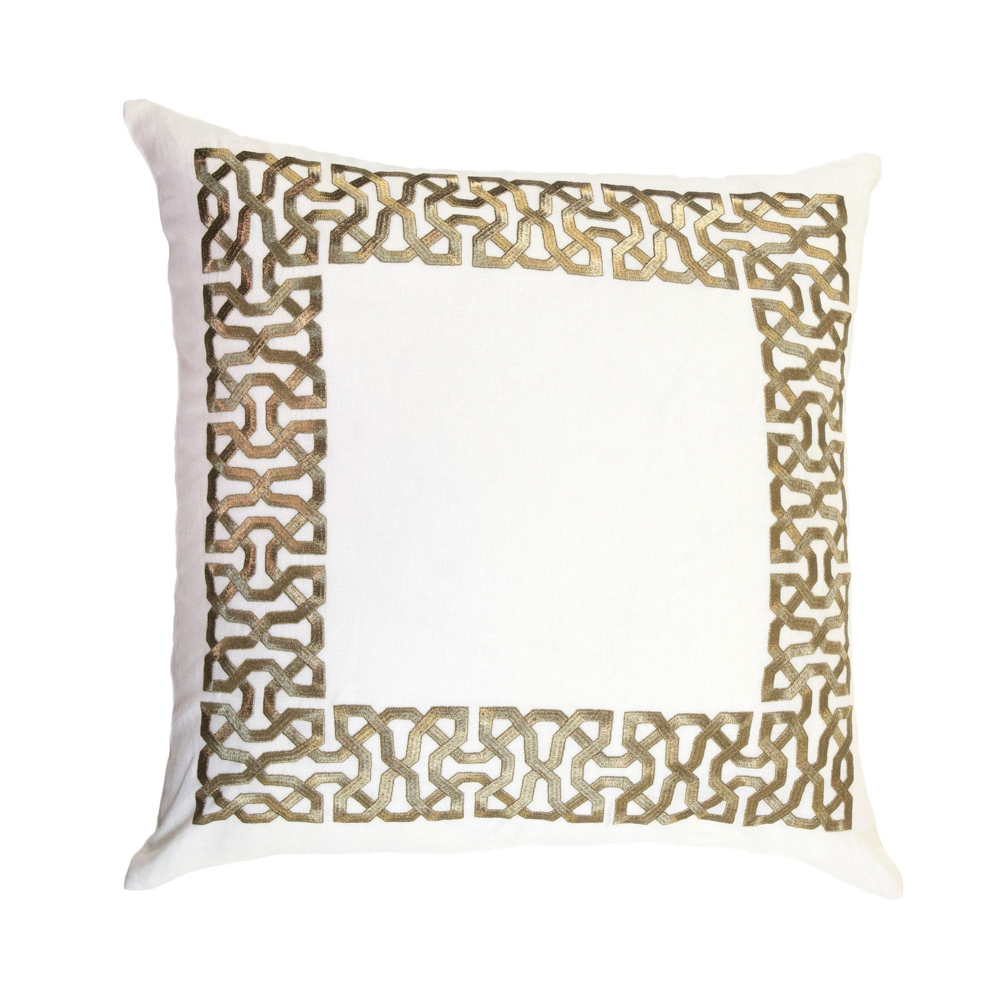 Symphony zari embroidery linen pillow cover products pinterest