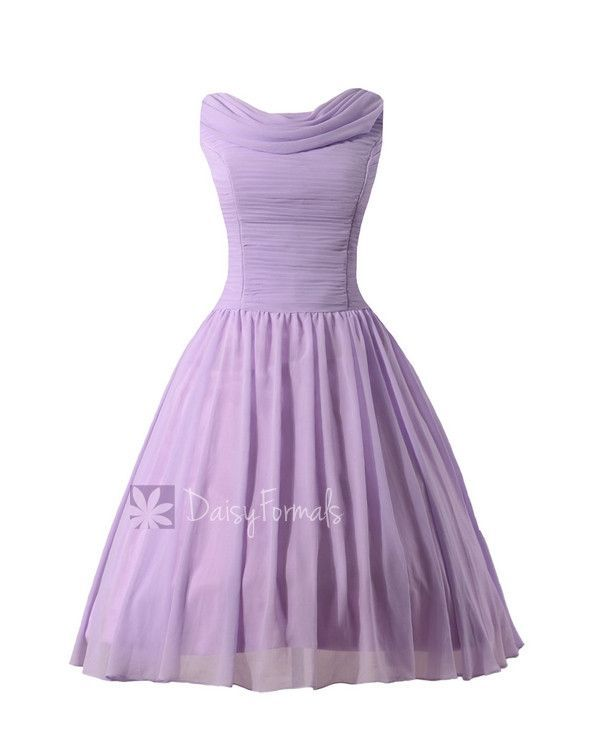 Vintage-Inspired Lilac Bridesmaid Dresses